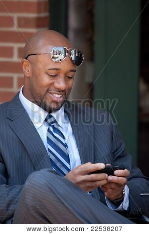 Modern Business Man Texting