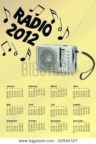 Radio 2012 Calendar