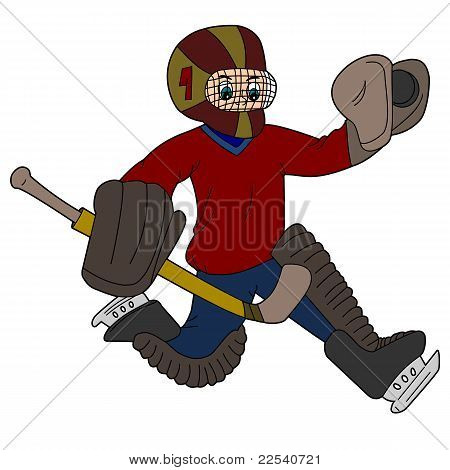 Goalie cartoon