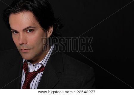 Handsome businessman in studio