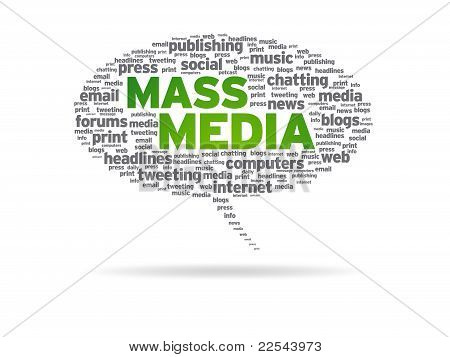 Speech Bubble - Mass Media