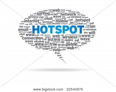 Speech Bubble - Hotspot