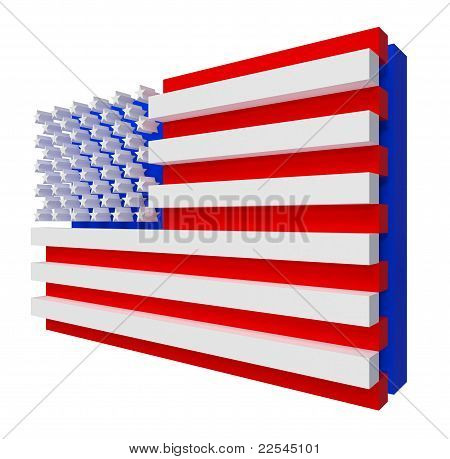 USA Flag. Include clipping path.