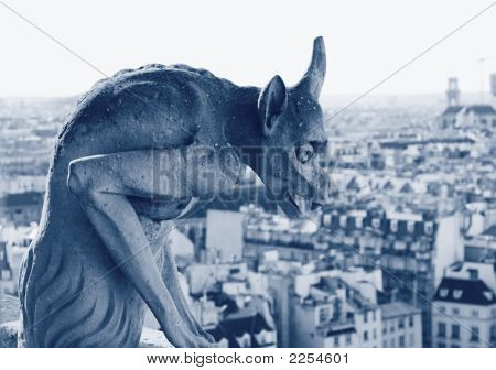 Gargoyle At Notre Dame Cathedral, Paris
