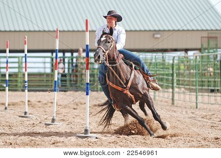 Rodeo Polebending