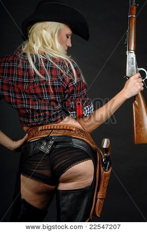 Blonde cowgirl