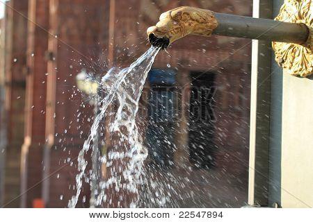 Water Spring  In Wetzlar. Germany