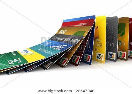 Queda de cartões de crédito