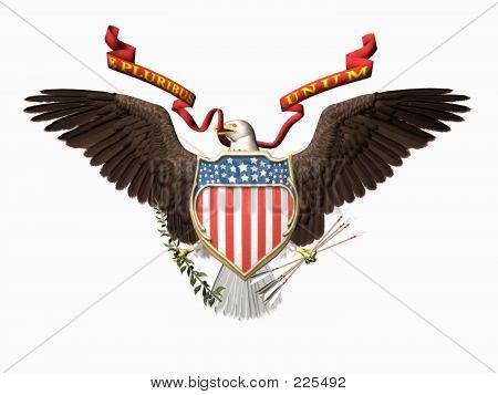 Selo dos Estados Unidos, E Pluribus Unum.