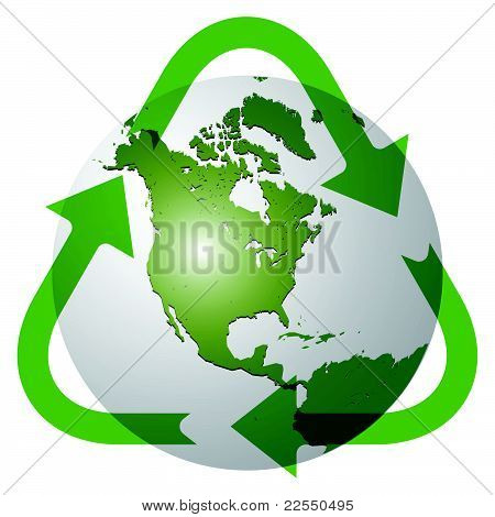 Recycle Earth Globe