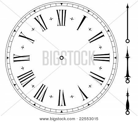 Blank Old Clock Face