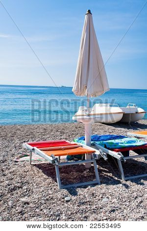 Ionian Sea Beach In Sicily