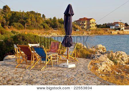 Beach bar at Kefalonia, Greece