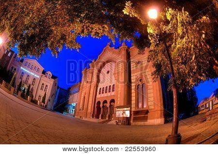 Night Of The Old Synagogue Of Uzhgorod, Ukraine