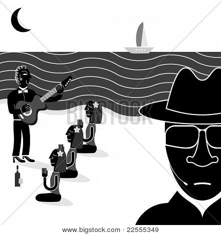 Security, Secret Agent - Vector Illustration
