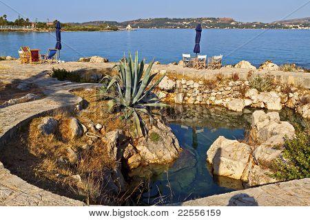Beach bar at Kefalonia island in Greece