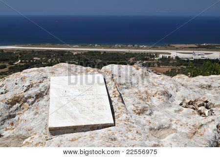 Lord Byron's rock at Lakithra village of Kefalonia