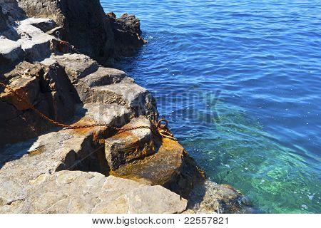 Old rocky pier