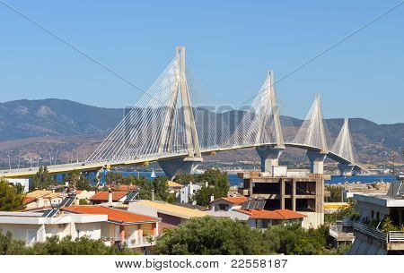 Cable stayed bridge in Greece
