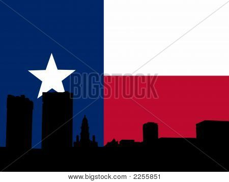 Fort Worth With Texan Flag