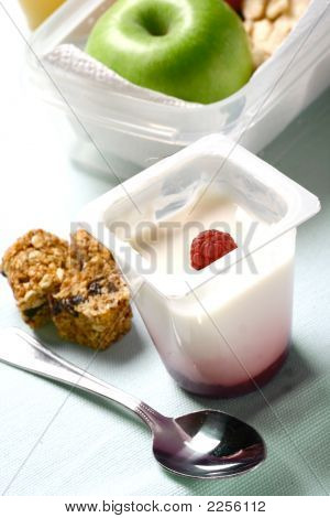 Healthy Yogurt With Breakfast Snack Cereal