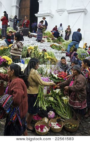 Sunday Market In Chichicastenango