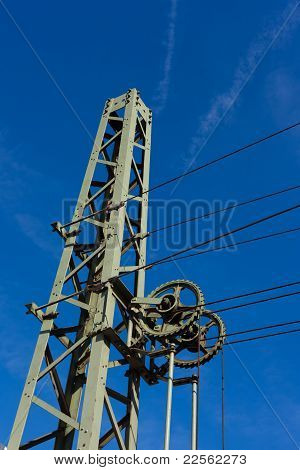 Overhead contact wiring