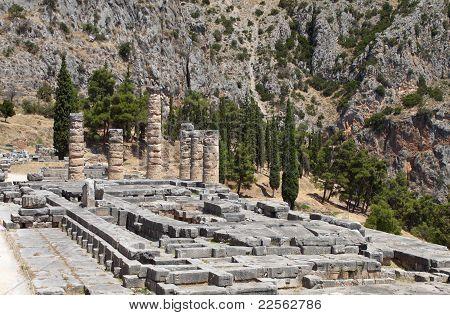 Tempel des Apollon in Delphi, Griechenland