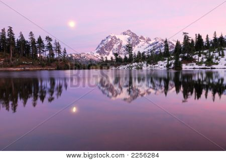 Moonrise Over Picture Lake