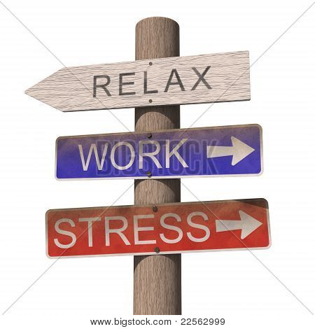 Wooden Sign With Relax Label