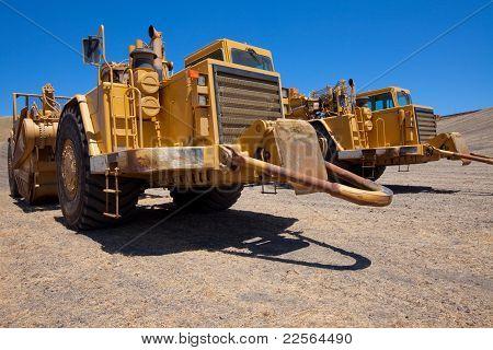 Tractores de raspador del tazón de fuente abierta
