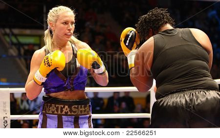 The Fight. Boxers Natasha Ragozina (Russia) and Pamela London (Guyana)