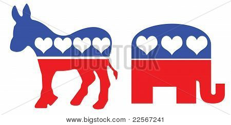 American Political Party Symbols