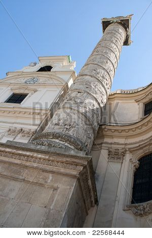 Column of The Karlskirche(St.Charles's,Church),Vienna