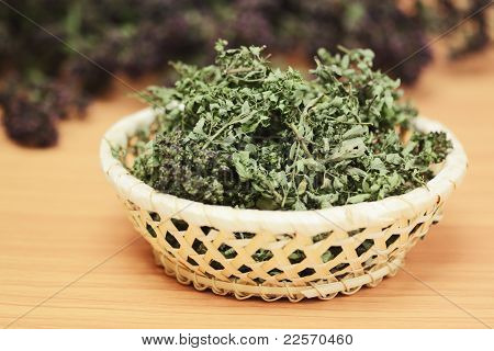 Dried Herbs Wild Thyme And Oregano