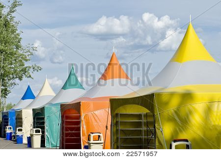 Colorful Tents