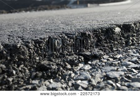 Layer Of Freshly Applied Asphalt