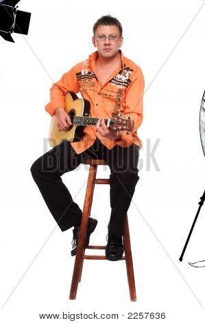 Man And Guitar