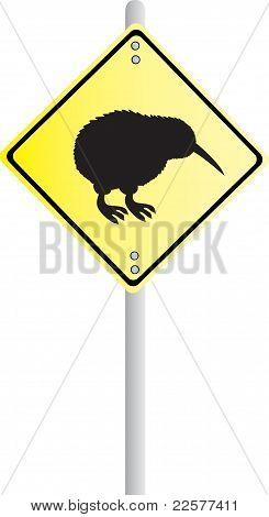 Kiwi Road Sign