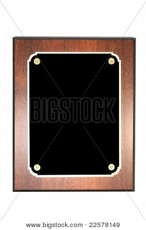 Blank Plaque Isolated