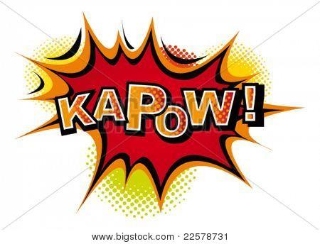 Comic-KAPOW. Vector