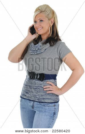 Attractive Woman Using A Smart Phone 06