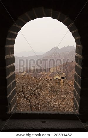 Great Wall Of China Through Window