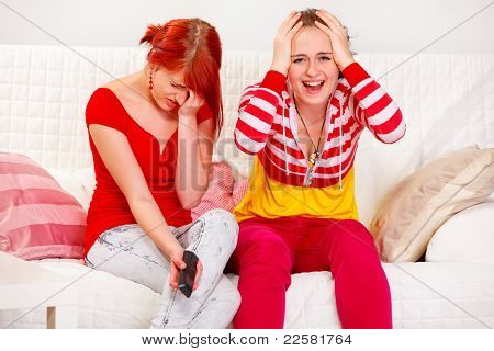 Girlfriends Upset By Tv Program