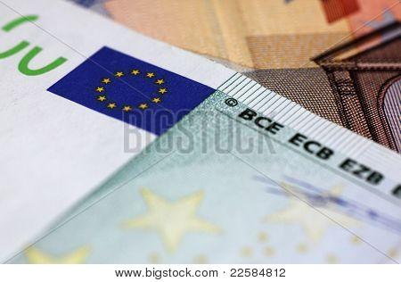 Close Up Of European Union Money