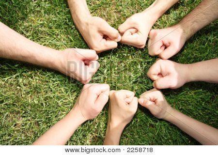 Friendly Fists In A Circle