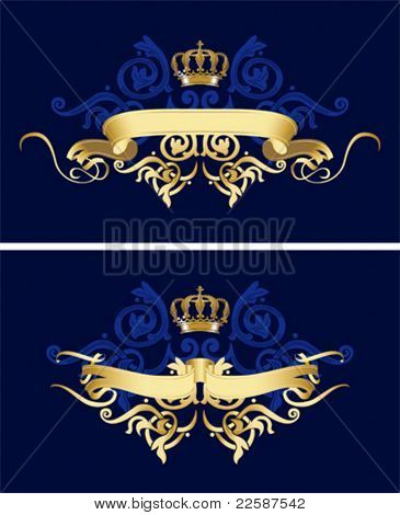 Ribbon with abstract design elements, vector illustration