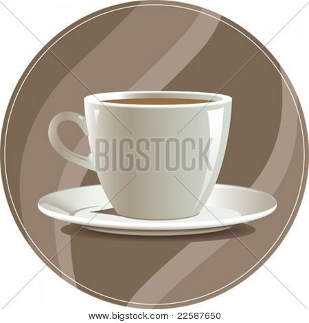 Tasse Kaffee, Vektor-illustration