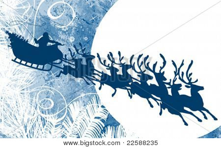 Santa's Sleigh, vector illustration