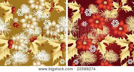 Seamless Christmas pattern, raster version of vector illustration